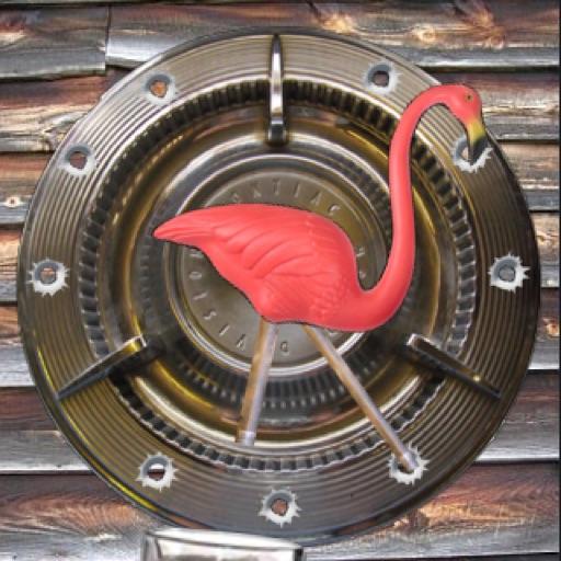Flamingo Redneck Pendulum Clock