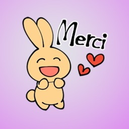 French Bunny Stickers