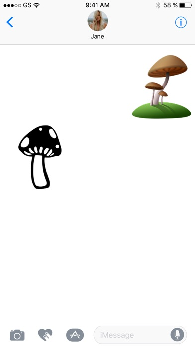 蘑菇貼紙包!屏幕截圖3