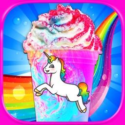 Rainbow Unicorn Milkshakes - Frozen Ice Cream Kids