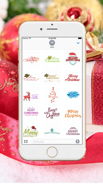 Christmas Greetings Stickers Pack