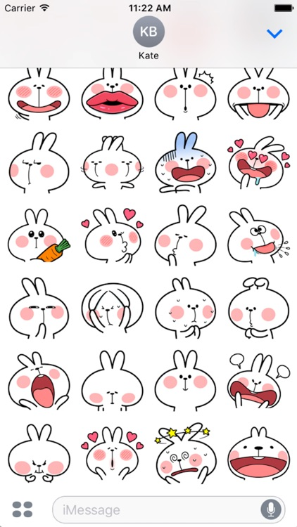 Cool Rabbit Facial Emoji screenshot-3