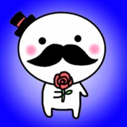 Mustachioed Smiling Gentleman - New Sticker Pack!!