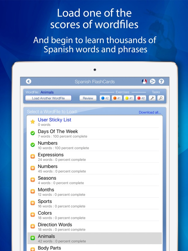 Learn Spanish Flashcards For Ipad On The App Store