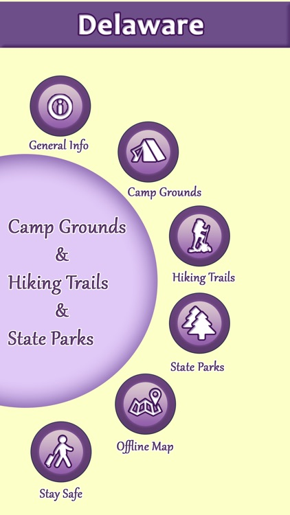 Delaware Campgrounds & Hiking Trails,State Parks