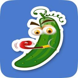 Animated Cucumber Emoji