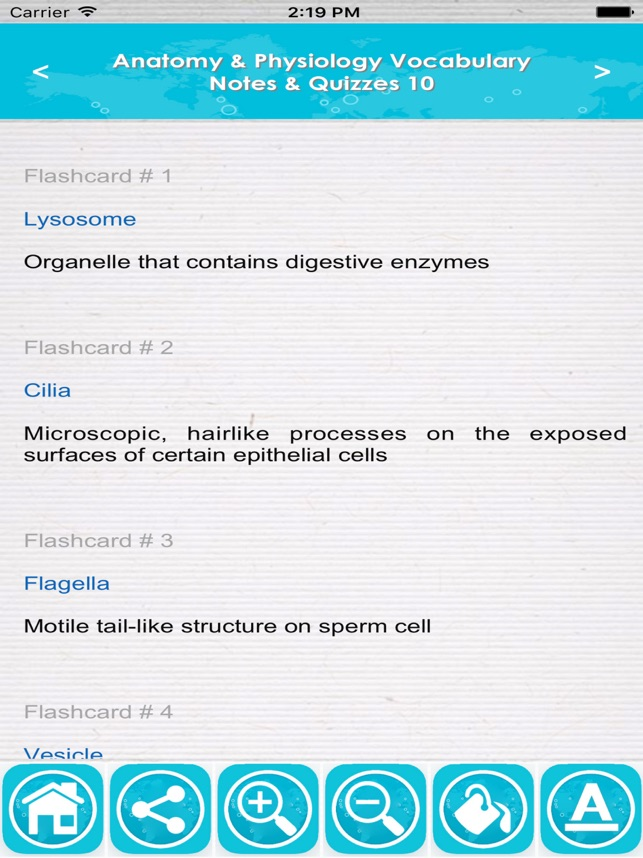 Anatomy & Physiology Vocabulary : Exam Review App on the App Store