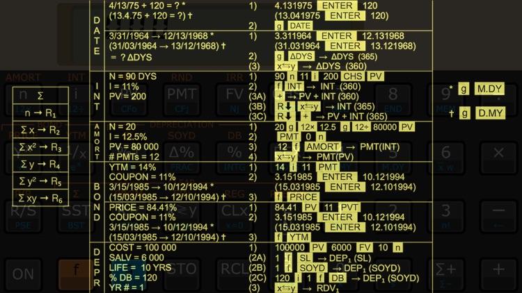 Touch Fin RPN financial calculator