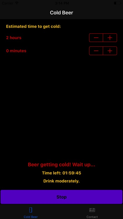 ColdBeer - Get your beer cold right on time!