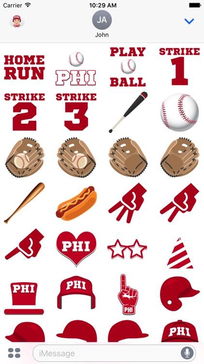 Philadelphia Baseball Stickers & Emojis screenshot-3