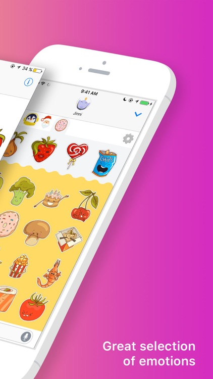 Food Stickers by MoJinni (HQ Animated Fruit & Veg)