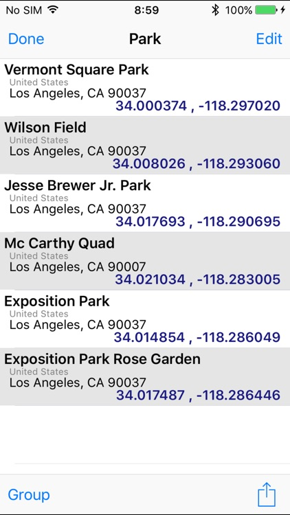 GeoPointer -Obtain position info from the address