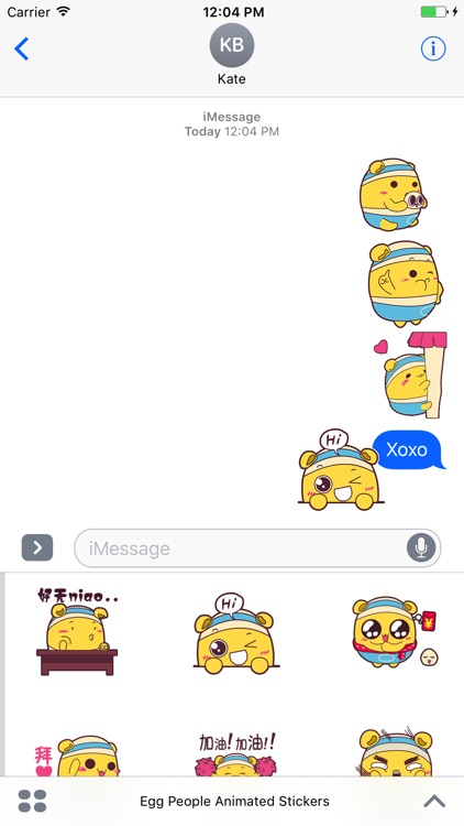 Egg People Animated Stickers For iMessage screenshot-4