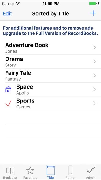 RecordBooks Lite screenshot-3