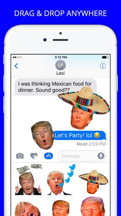 Trump Heads GIF Sticker App Pack for iMessage GIFS screenshot-3