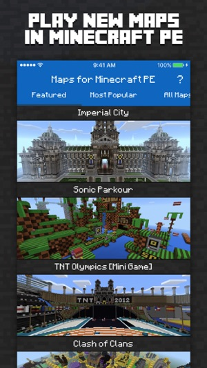 Maps for minecraft pe minecraft maps on the app store screenshots publicscrutiny Images