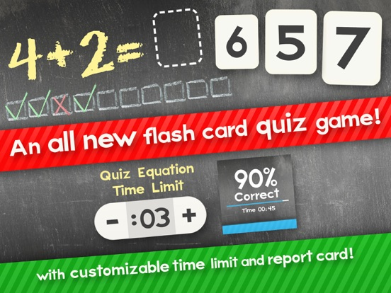 Screenshot #1 for Addition Flash Cards Math Help Quiz Learning Games