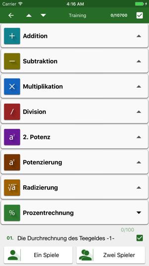 Mathematische Tricks (100+) PRO Screenshot