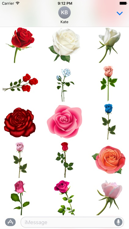 Roses to Love Stickers for iMessage screenshot-3