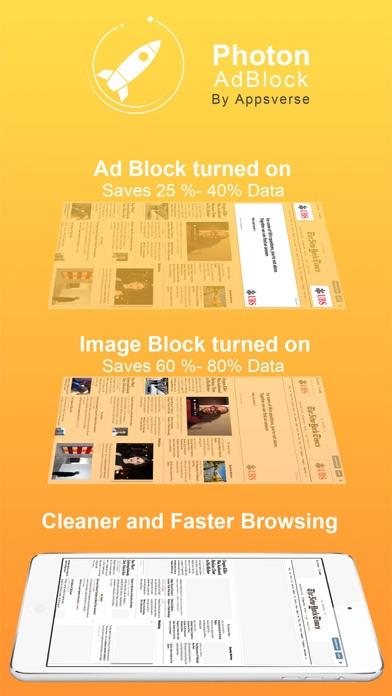 Photon Ad Blocker for Private Secret Browser App Screenshot