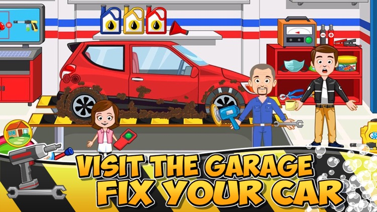 My Town : Car (wash, fix & drive cars) screenshot-3