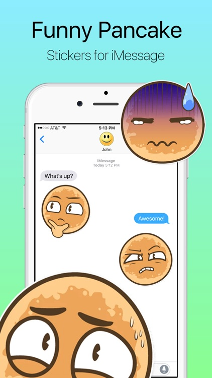 Funny Pancake Stickers