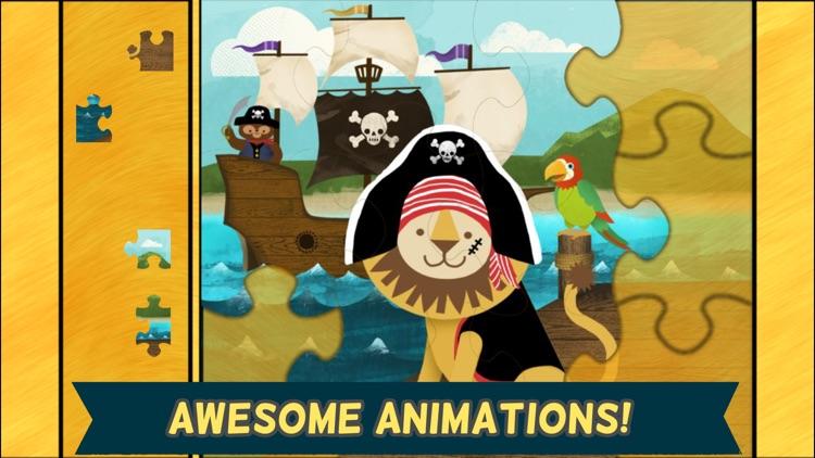 Pirate Preschool Puzzle - Toddler Games Complete screenshot-3