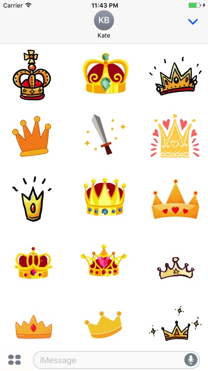 Animated Cute Crown Stickers