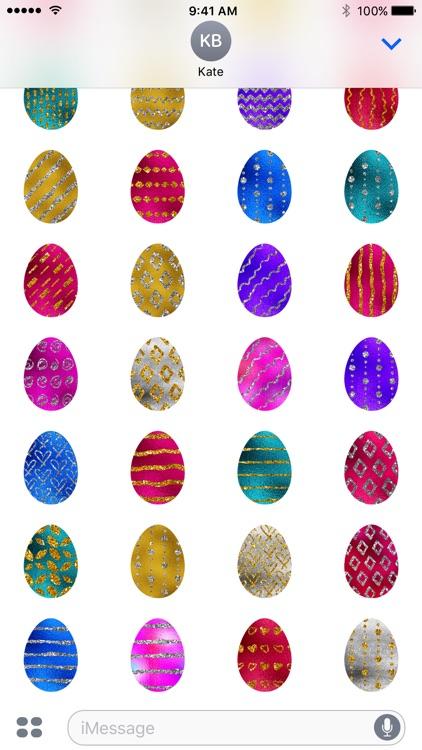 Easter Eggs - Foil and Glitter