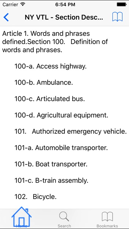 NY Vehicle and Traffic Code
