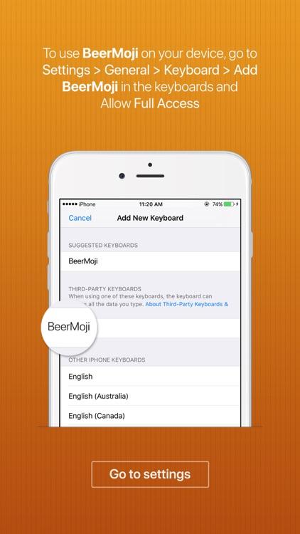 BeerMoji - beer stickers and emoji keyboard app screenshot-3
