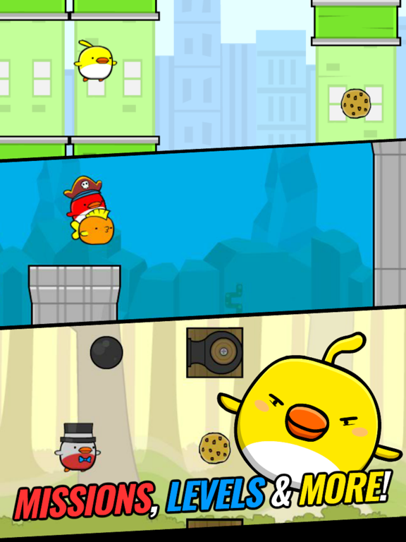 Cookie Bird in Flappy City FREE - Addicting & Cute Flying Games For Kids Boys & Girls screenshot