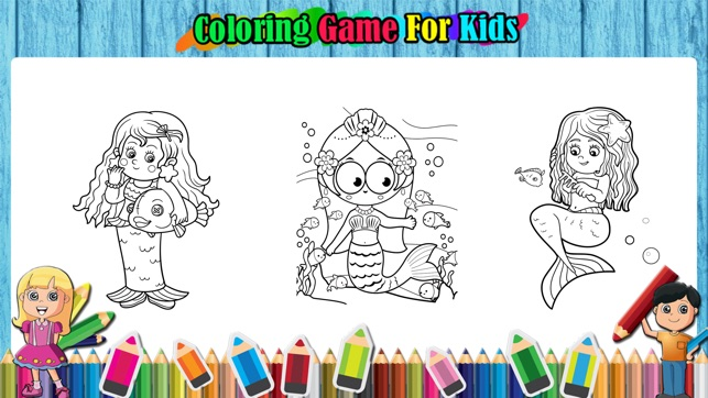 The Cute Mermaid Coloring Book Games On App Store