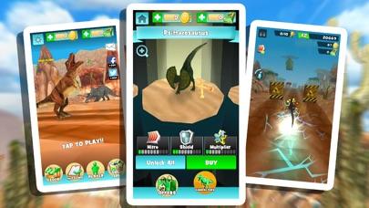 ディノ シミュレータ . 無料 ジュラ紀 恐竜 レース ゲームのスクリーンショット4