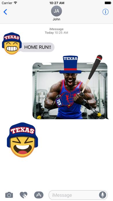 Texas Baseball Stickers & Emojis screenshot two