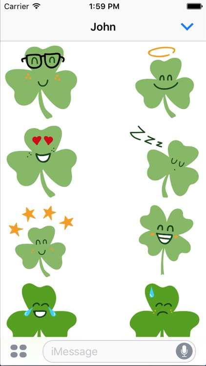 Shamrock Smiles Sticker Pack screenshot-4