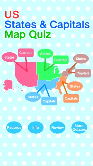 US States & Capitals Map Quiz on the App Store on