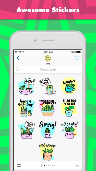 点击获取Cactus Love stickers by jans