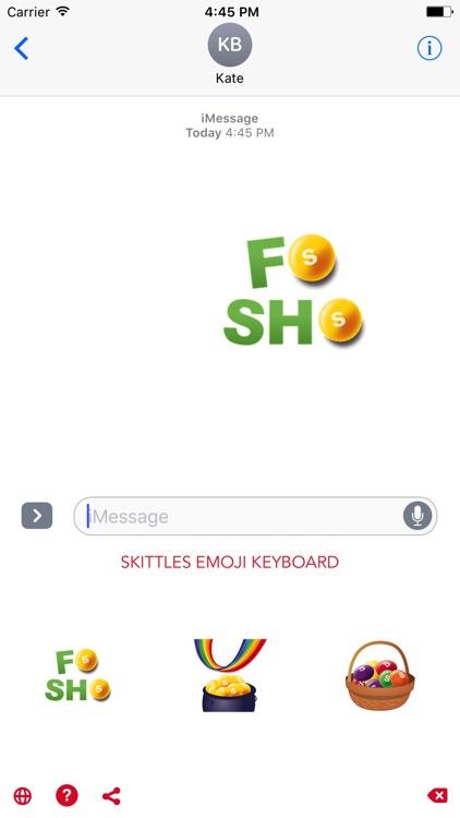 Skittles Emoji Keyboard screenshot-3