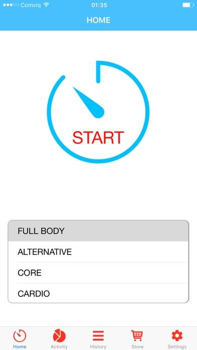 Quick workout - shape you up! screenshot 1
