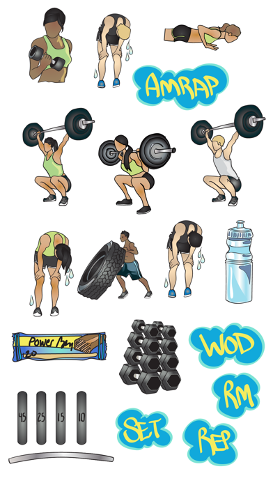 Crossfit & Weightlifting Stickers and Emojis screenshot four
