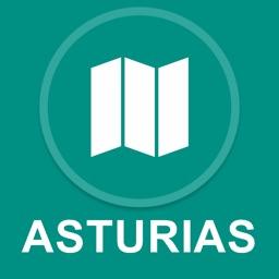 Asturias, Spain : Offline GPS Navigation