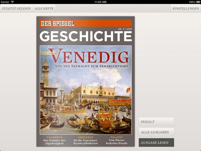 Geschichte im app store for Der spiegel redakteure