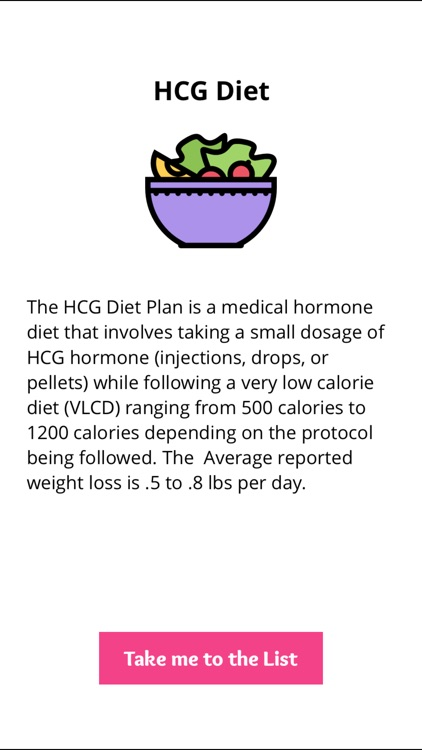 800 Calorie HCG Diet Food List