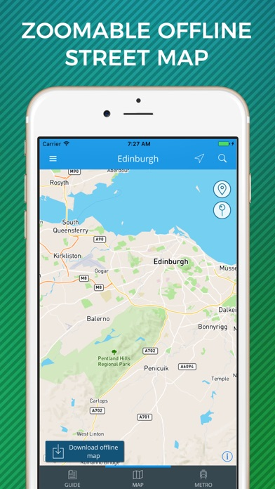 Edinburgh Travel Guide with Offline Street Map screenshot three