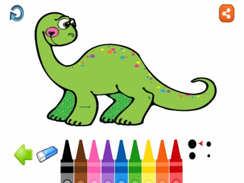 Dino Saurs Coloring Book For Kids - náhled