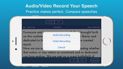 Public Speaking Teleprompter review screenshots