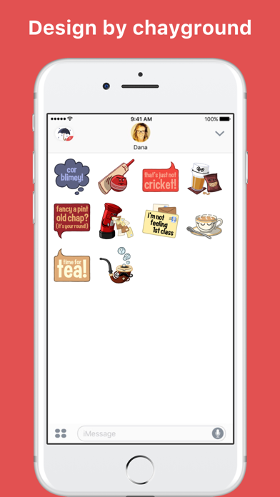 Quintessentially English stickers by chayground screenshot two
