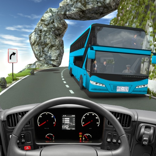 Offroad Bus Simulator: Mountain Bus Driving 3D Icon