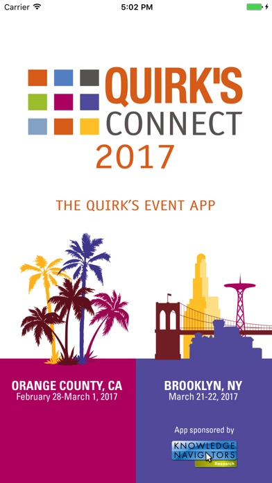 Quirk's Connect 2017 app image